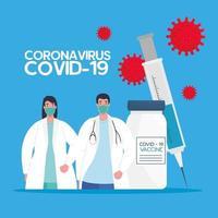die Coronavirus-Impfstoff-Rasse vektor