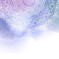Dekorativ madala design på en akvarellbakgrund vektor