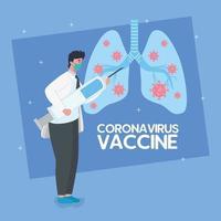 medizinische Impfstoffforschung für Coronavirus vektor