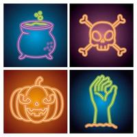 Halloween Party Leuchtreklame gesetzt