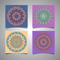 Sammlung von Mandala-Designs vektor