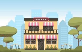 fancy två våningar bageri butik i parken vektor