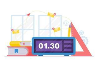 tidshantering och affärsstrategi element illustration