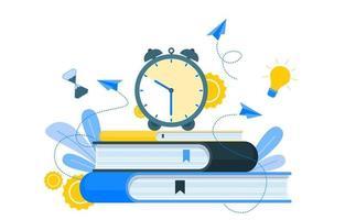 tidshantering och affärsstrategi element illustration vektor