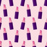 nahtlose Musterillustration des Lippenstifts