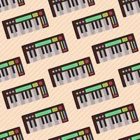 Tastatur Musikinstrument nahtlose Musterillustration vektor