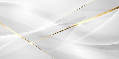 abstrakt grå och guld bakgrund skönhetsaffisch med dynamik. teknik nätverk vektorillustration. vektor
