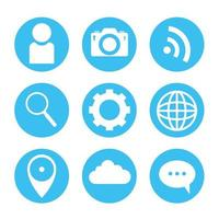 Social Media Icon Set vektor