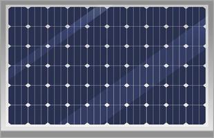 Solarpanel lokalisiert auf weißem Hintergrund vektor