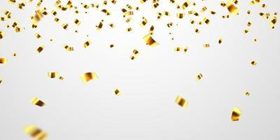 Feier Hintergrundvorlage mit glitzernden Konfetti Goldbändern. Luxus Gruß reiche Karte.