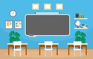 leeres Klassenzimmer in der Illustration der High School vektor
