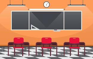 tomt klassrum i gymnasiet illustration