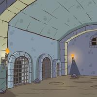 tecknad fängelsehålan bakgrund