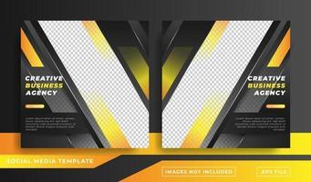 företags marknadsföring företags sociala medier banner mall vektor