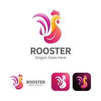 schöne Farbe moderne Hahn Logo Konzept Design vektor