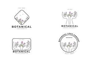 minimal feminin modern botanisk blommig organisk naturlig abstrakt säsongsbetonad krokus klassisk logo design vektor