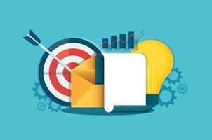 Mail-Nachricht-Konzept. Business Analyst. Vektorillustration