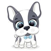 djurillustration med söt liten hund. vektor