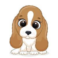 Tierillustration mit niedlichem kleinen Hund. vektor