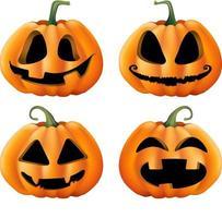 Halloween-Kürbis mit vielen weißen Hintergründen