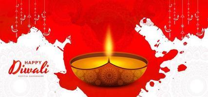 kreative beleuchtete beleuchtete Lampe abstrakter Diwali Hintergrund
