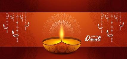 Karte für glücklichen diwali Festivalfeierhintergrund