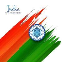 Indien Unabhängigkeitstag 15. August Flagge Design vektor