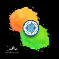 Aquarell Indien Flagge Hintergrund vektor