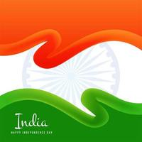 Konzeptentwurf des Unabhängigkeitstags der indischen Flagge vektor