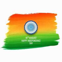 Hintergrund des indischen Flaggenkonzepts des Aquarellstrichs vektor