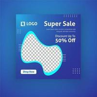 super försäljning sociala medier postmall vektor