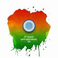 Indien Unabhängigkeitstag Illustration mit Aquarell Design vektor
