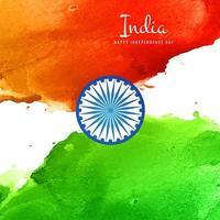 Hintergrundvektor der indischen Flagge des Aquarells vektor