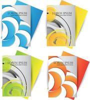 färgglad cirkel design affärsmall uppsättning vektor