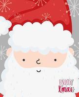 Frohe Weihnachten Plakat mit glücklichen Weihnachtsmann