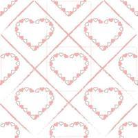 sömlös valentin mönster bakgrund med rosa hjärta ram vektor