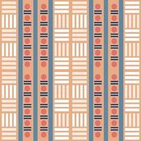 Drucken Sie nahtlosen mehrfarbigen nativen Musterhintergrund mit geometrischer Form