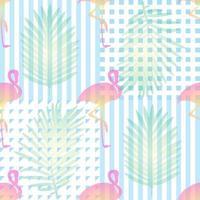 sömlös tropisk mönsterbakgrund med rosa flamingor
