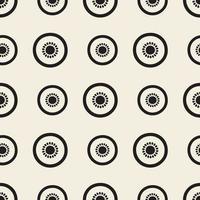 nahtlose monochrome Scheibe Kiwi-Fruchtmusterhintergrund vektor
