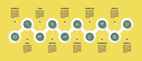 Atommodell, beschreibt Arbeitsprozesse und berichtet Ergebnisse oder Datenanalyse. vektor