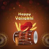 punjabi festival vaisakhi bakgrund vektor