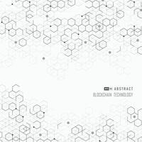 abstrakte Abdeckung sechseckige geometrische der Blockchain-Designgrafik. Illustrationsvektor vektor