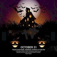 Halloween Party Poster Design mit Kürbissen