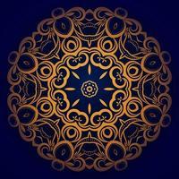 dekorativer Luxushintergrund des schönen Mandala-Entwurfs vektor