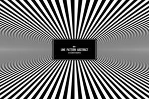 abstrakt linje svartvitt minimalt mönster i mittpresentationsbakgrund. illustration vektor