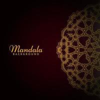 klassiskt lyxmönster elegant mandala dekorativt mönster bakgrund vektor