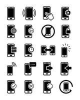 Ikonuppsättning för smartphone-gränssnitt vektor