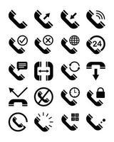 telefon gränssnitt ikonuppsättning vektor