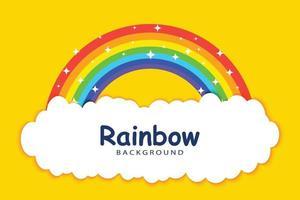 Regenbogen mit Wolkenhintergrundschablone