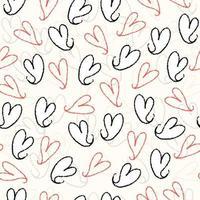 nahtloser Valentinstag Musterhintergrund von Hand zeichnen Herz